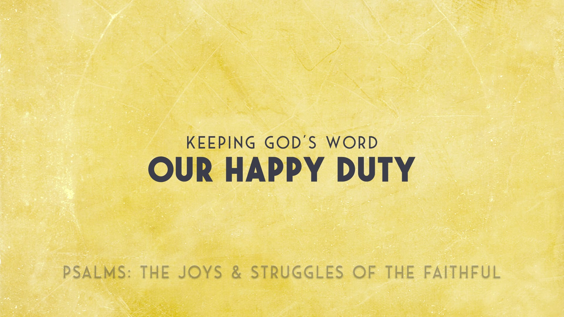 Keeping gods word our happy duty grace church of tallahassee ccuart Image collections