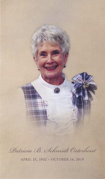 Patsy Osterhout Memorial Service Program